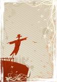 Vector illustration of mystic scarecrow Stock Photos
