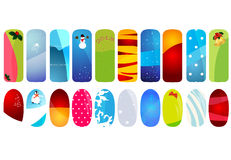 Vector illustration of nail designs with holidays. Nail designs with holidays details Stock Photography