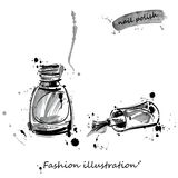Vector illustration of nail polish. Isolate on white background. Royalty Free Stock Images