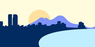 Vector illustration of naples Stock Photos