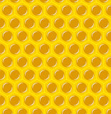Vector Illustration of a Natural Background with. Honeycombs stock illustration