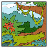 Vector illustration, natural background, jungle Royalty Free Stock Photos