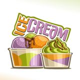 Vector illustration of natural Ice Cream Royalty Free Stock Photography