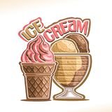 Vector illustration of natural Ice Cream Royalty Free Stock Photo