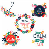 Vector illustration. Nature background of autumn. Royalty Free Stock Photos