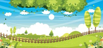 Vector Illustration Of Nature Background. Eps 10 stock illustration