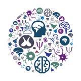 Neurology circle Stock Images