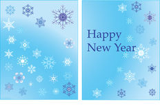 Vector illustration of a New Year background Stock Photo