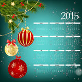 Vector Illustration. 2015 New Year Calendar. 2015 New Year Calendar Vector Illustration. EPS10 Royalty Free Stock Images