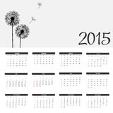 Vector Illustration. 2015 New Year Calendar. 2015 New Year Calendar Vector Illustration. EPS10 Stock Photos