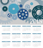 Vector Illustration. 2015 New Year Calendar. 2015 New Year Calendar Vector Illustration. EPS10 Royalty Free Stock Photography