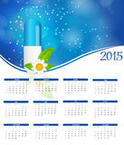Vector Illustration. 2015 New Year Calendar. 2015 New Year Calendar Vector Illustration. EPS10 Stock Photography