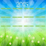Vector Illustration. 2015 New Year Calendar Stock Images