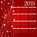 Vector Illustration. 2015 New Year Calendar. 2015 New Year Calendar Vector Illustration. EPS10 Stock Photo