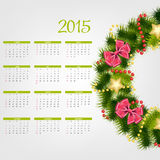 Vector Illustration. 2015 New Year Calendar. 2015 New Year Calendar Vector Illustration. EPS10 Royalty Free Stock Photo