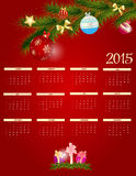 Vector Illustration. 2015 New Year Calendar. 2015 New Year Calendar Vector Illustration. EPS10 Stock Images