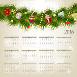 Vector Illustration. 2015 New Year Calendar. 2015 New Year Calendar Vector Illustration. EPS10 Royalty Free Stock Photos