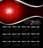 Vector Illustration. 2015 New Year Calendar Royalty Free Stock Photo