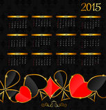 Vector Illustration. 2015 New Year Calendar Royalty Free Stock Image