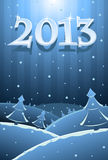 Vector illustration of New Year card Royalty Free Stock Images
