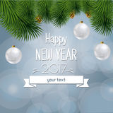 Vector illustration of new year and Christmas Royalty Free Stock Photo