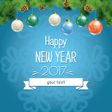 Vector illustration of new year and Christmas Royalty Free Stock Photography