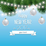 Vector illustration of new year and Christmas Stock Photo