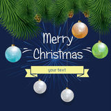 Vector illustration of new year and Christmas Royalty Free Stock Photos