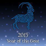 Vector illustration. New year of the Goat. The Goat - symbol of New 2015 Year stock illustration