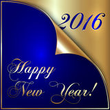 Vector illustration of 2016 new year gold and dark Royalty Free Stock Photography