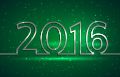 Vector illustration of 2016 new year greeting. Vector illustration of 2016 new year  greeting billboard with silver wire on green background Stock Image