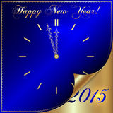Vector illustration of 2015 new year greeting with Royalty Free Stock Photography