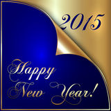 Vector illustration of 2015 new year greeting with Stock Photos