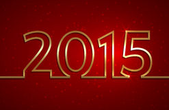 Vector illustration of 2015 new year red greeting. Vector illustration of 2015 new year gold and red greeting billboard with gold wire Stock Photography