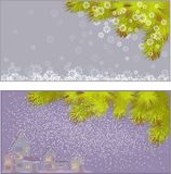 Vector illustration of New Year's backgrounds. Vector illustration of a set of New Year's backgrounds Royalty Free Stock Images
