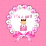 Vector Illustration for Newborn Girl Stock Image
