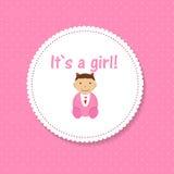 Vector Illustration for Newborn Girl Royalty Free Stock Image