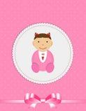 Vector Illustration for Newborn Girl Stock Photo
