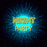 Vector illustration of a night party on abstract background Stock Photos