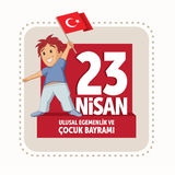 Vector illustration of the 23 Nisan Cocuk Bayrami. Vector illustration of the 23 Nisan Çocuk Bayrami, April 23 Turkish National Sovereignty and Children`s Day Royalty Free Stock Photography