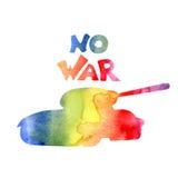 Vector illustration -- no war Royalty Free Stock Photography