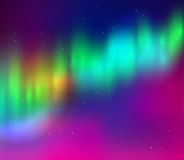 Vector illustration of northern lights Royalty Free Stock Photography
