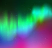 Vector illustration of northern lights Stock Photography