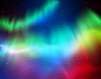 Vector illustration of northern lights Stock Image