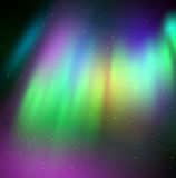 Vector illustration of northern lights Royalty Free Stock Photos