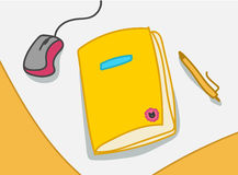 Vector illustration with notebook Royalty Free Stock Image