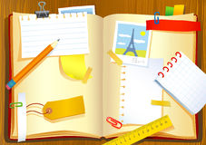 Vector illustration of the notebook Royalty Free Stock Photos
