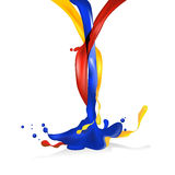 Vector illustration object aggregation of  liquid Royalty Free Stock Image