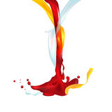 Vector illustration object aggregation of  liquid Royalty Free Stock Photo