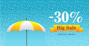 Free Vector Illustration Of A Background For Happy Monsoon Sale Royalty Free Stock Photo - 61549625